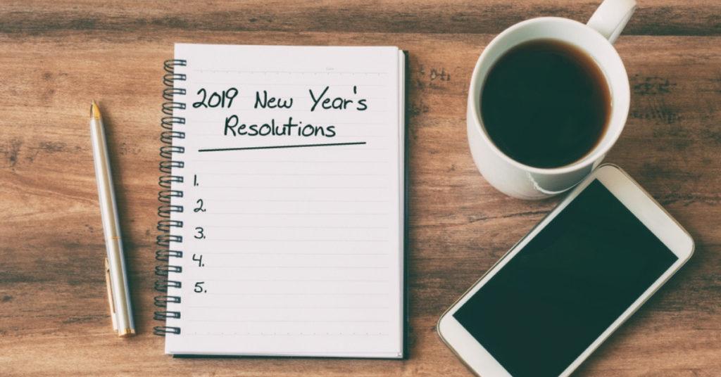 Top 5 des bonnes résolutions pour l'année 2019