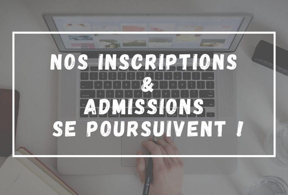 Admissions et inscriptions
